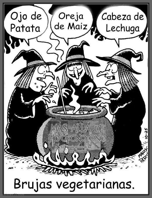 Chistes Brujas vegetarianas