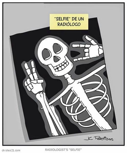 Chistes Selfie de un radiólogo