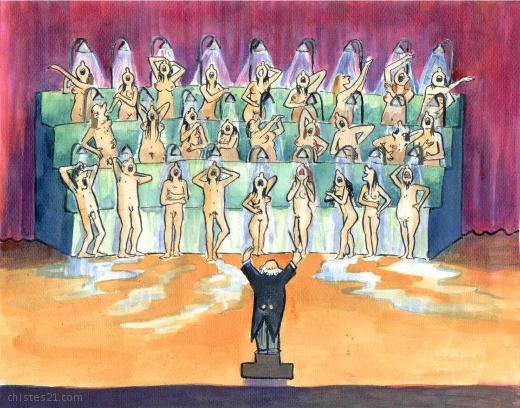Coro de cantores de ducha